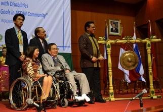 Pembukaan ADF 2010 di Jakarta oleh Menteri Agung Laksono